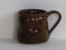 14 oz. brown mug