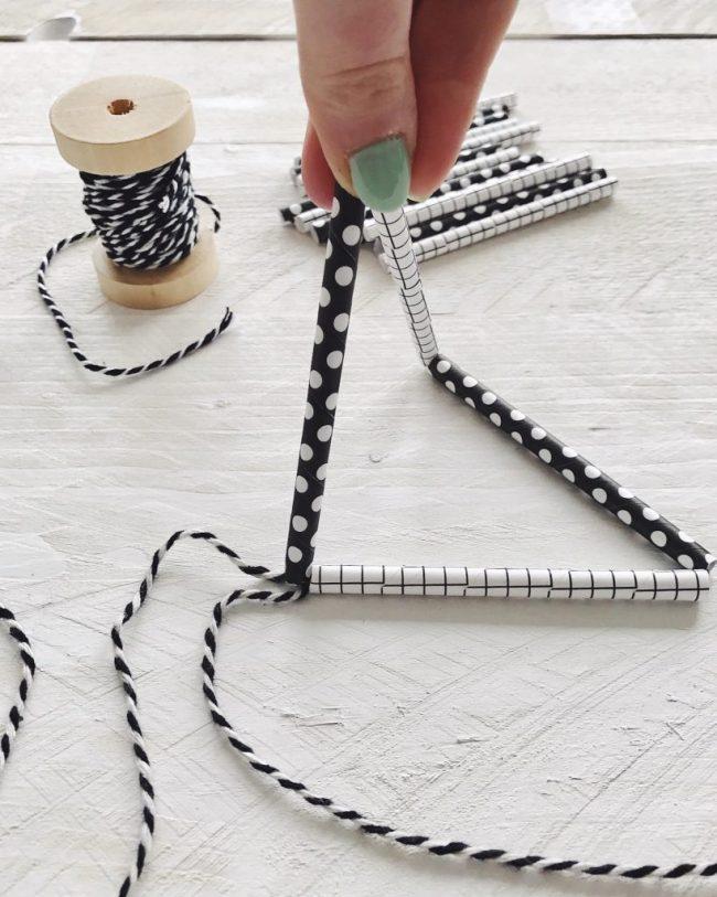 Himmeli-diy-blog-rietjes-paper-straw-schaar-touw-makkelijk