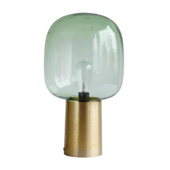 Tafellamp-glas-goud-metaal-housedoctor