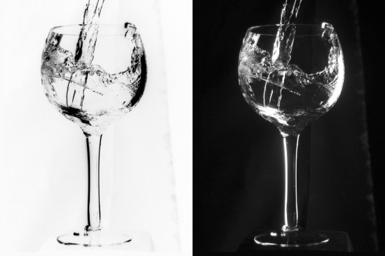 Glass of water seen through the lover's eyes