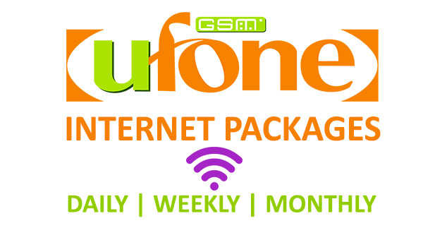 Ufone Internet Packages Daily, Weekly, and Monthly