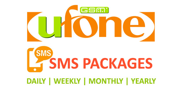 Ufone SMS Packages Daily, Weekly, Monthly, and Yearly