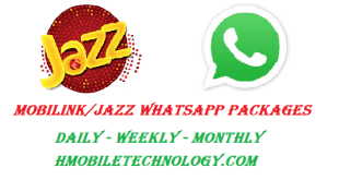 Mobilink Jazz WhatsApp Packages Daily Weekly Monthly