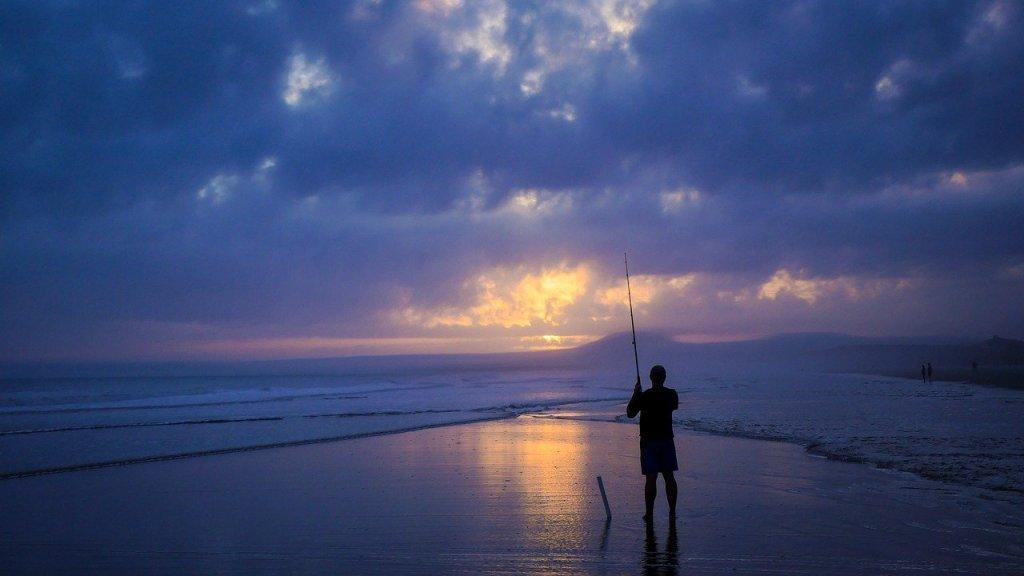fisherman, seaside, sea