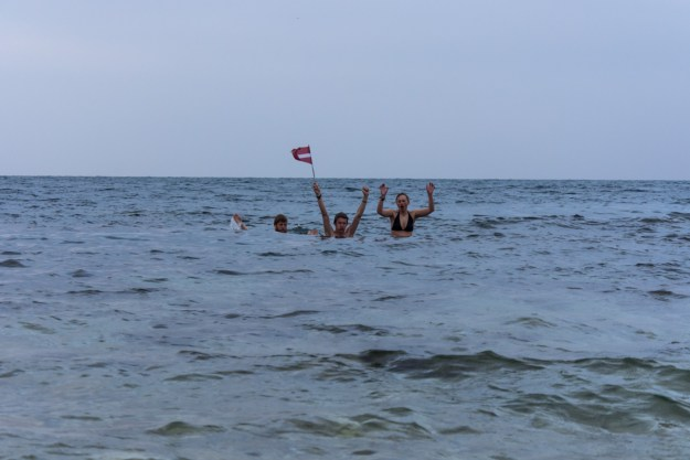 A November swim in the Black Sea