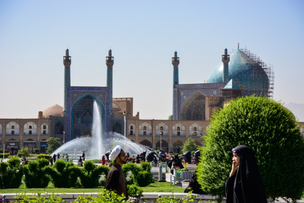 Naqsh-e Jahan Square and the view to Masjed-e Shah - the pinnacle of Safavid architecture.
