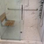 Walk-in Shower with Flip up Shower Chair 3