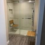 Walkin-in Shower with 2 Flip Up Seats