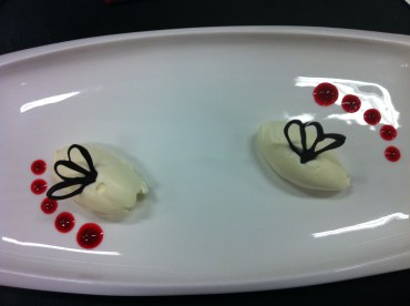 Cream quenelles