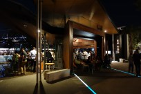 Stokehouse, you enter the dining area through the bar