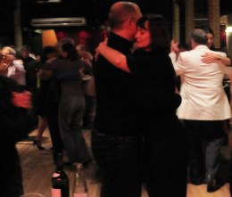 Our very first tango dance in Buenos Aires