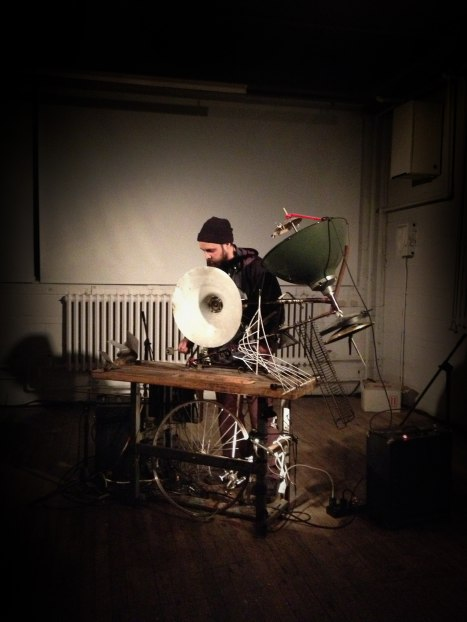 Jeremy playing the cyclophone at Eastern Bloc in Montreal 2012