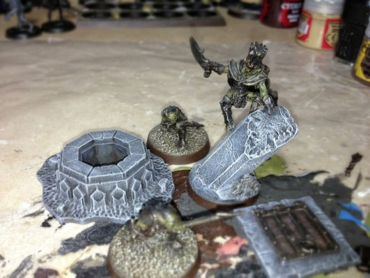 How I painted dwarven stonework for my moria army.