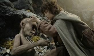 Frodo shows mercy to Gollum