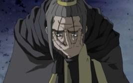 The evil king of Kou breaks down in defeat