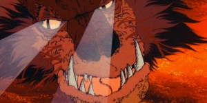 Smaug searching for Bilbo in the Hobbit cartoon