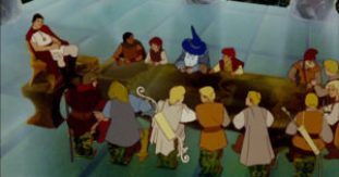 The poorly-designed Council of Elrond in Ralph Bakshi's The Lord of the Rings.