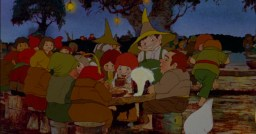 Poorly-animated hobbits in Ralph Bakshi's The Lord of the Rings.
