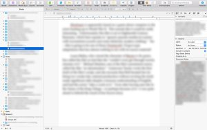 Scrivener is designed for long writing projects.