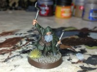A Games Workshop dwarf ranger.