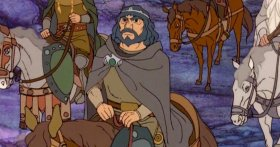 Rankin/Bass version of Aragorn on his horse