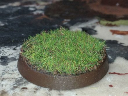 A Citadel base covered in grass.