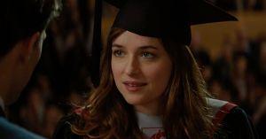 Anastasia Steele at her graduation.