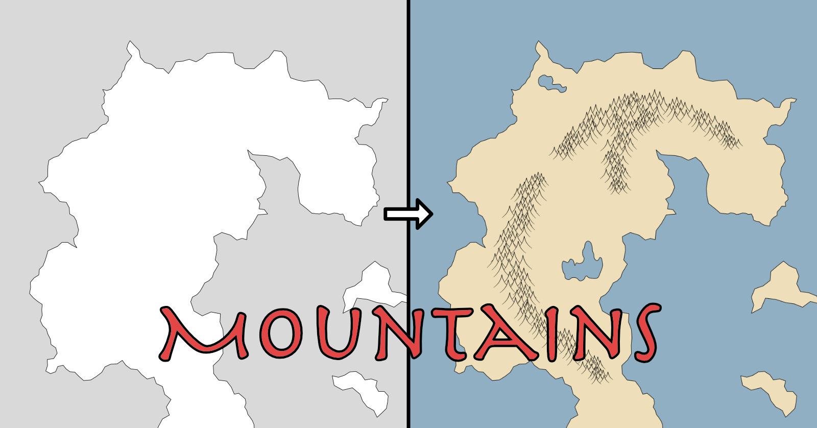 Making a Fantasy Map: Mountain Ranges – H  M  Turnbull