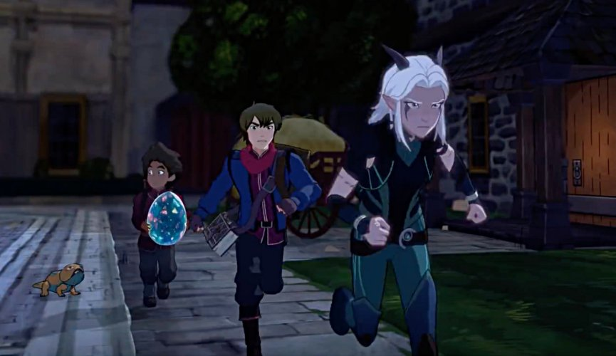 The Dragon Prince 2018 rayla and callum X Reader fanfic