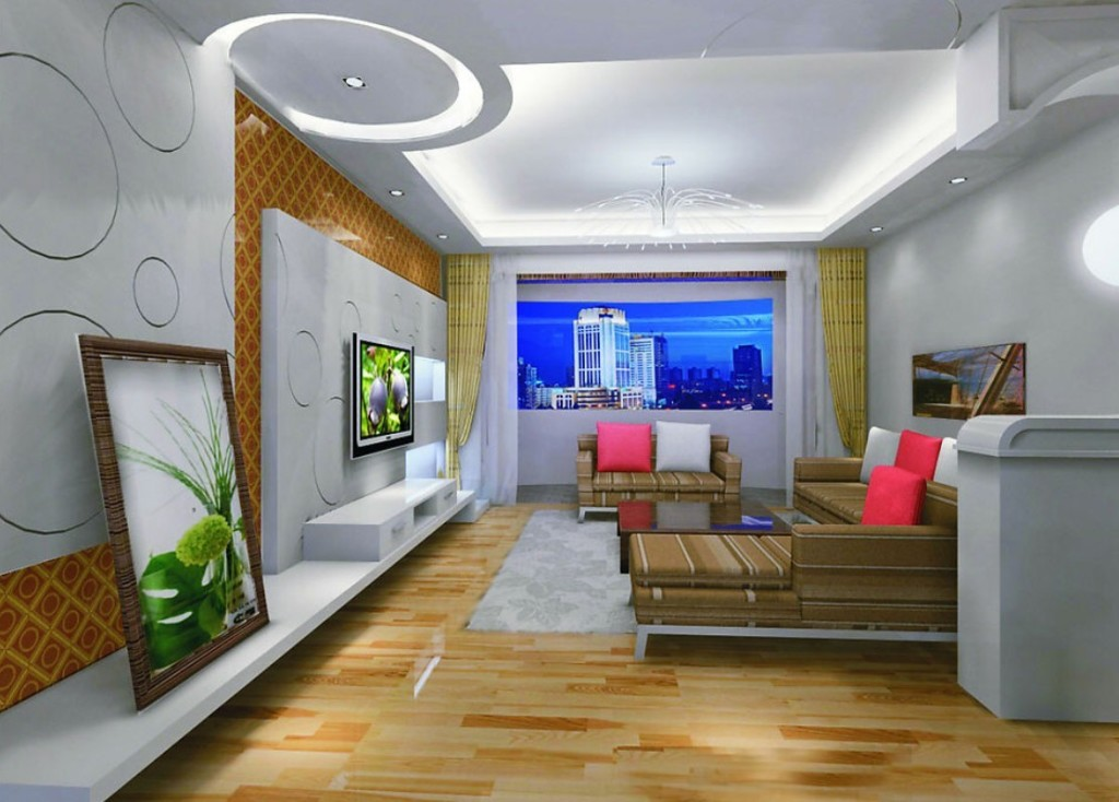 25 Elegant Ceiling Designs For Living Room - Home And ...