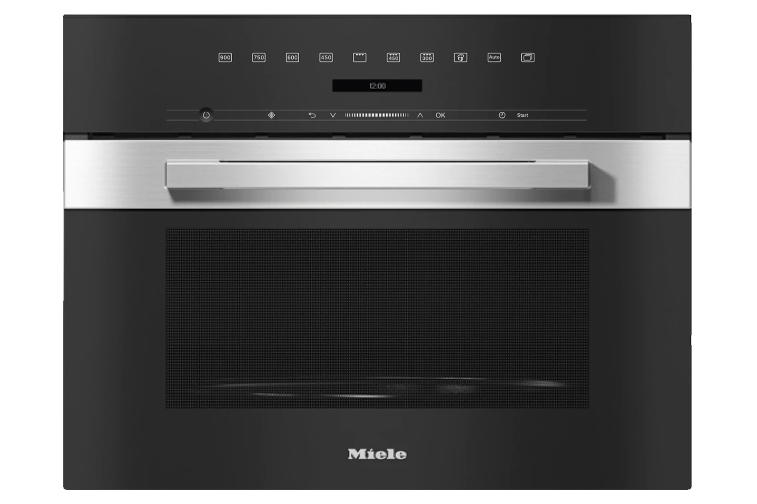 miele m 7240 tc built in microwave oven in a design that is the perfect complement with controls on the top