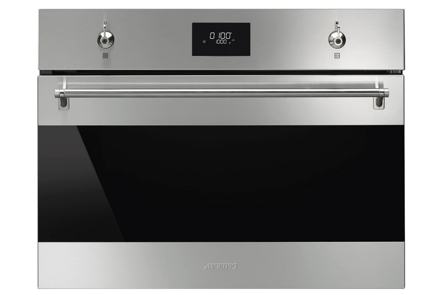 smeg 40l 1000w built in combination microwave oven sf4301mcx stainless steel