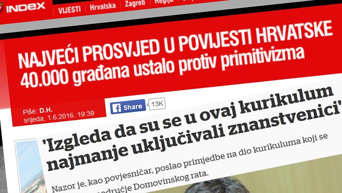 Pali na ispitu: Mediji navijački o prosvjedu na Trgu bana Jelačića