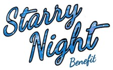 Starry night benefit button small