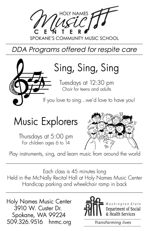 DDA Programs Flier single