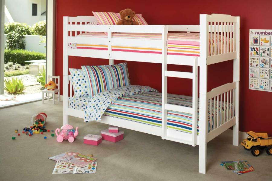 Jessica King Single Bunk Bed Frame by Nero Furniture   Harvey Norman     Jessica Bunk Bed by Nero Furniture