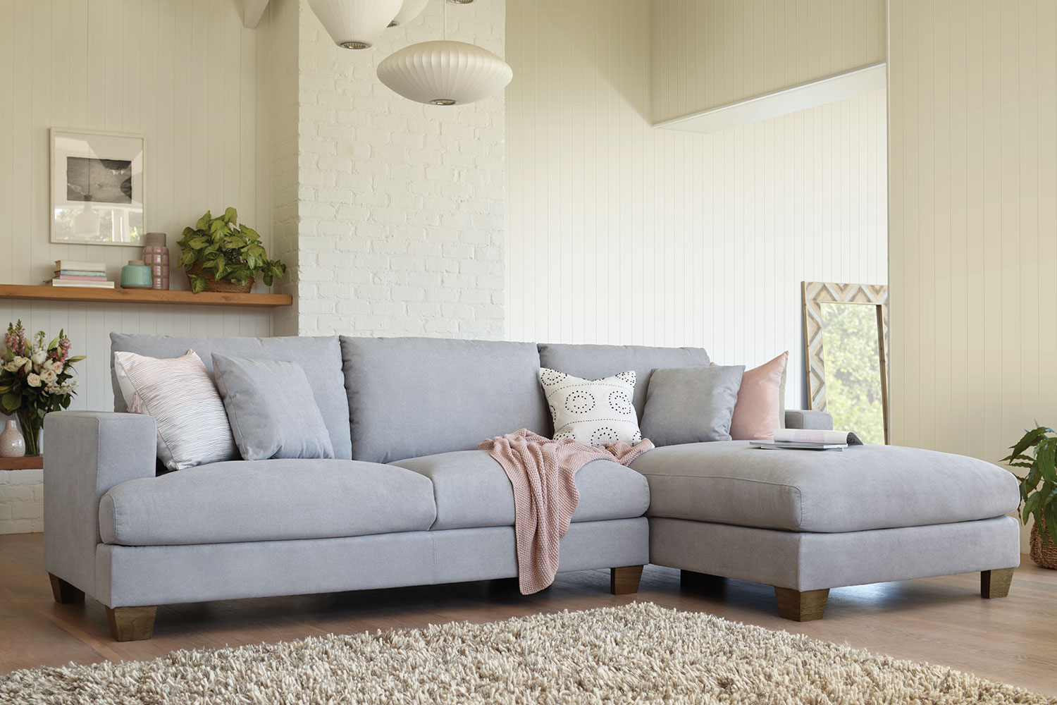 eton 2 5 seater sofa with chaise by dixie cummings