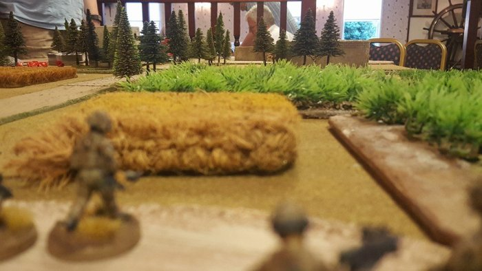 Closer view of the Fusiliers advancing trhough the fields