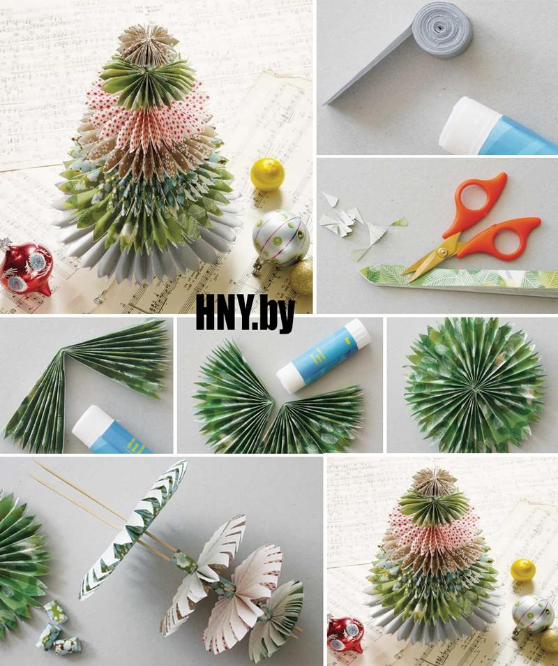 Поделки из бумаги к Новому году: делаем елочку в японском стиле своими руками