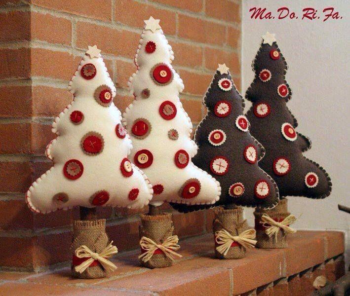 Interior pomul de Crăciun de simțit face tu singur