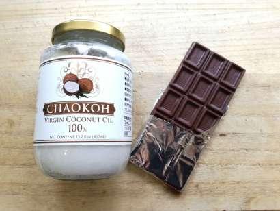 ココナッツオイルと板チョコ