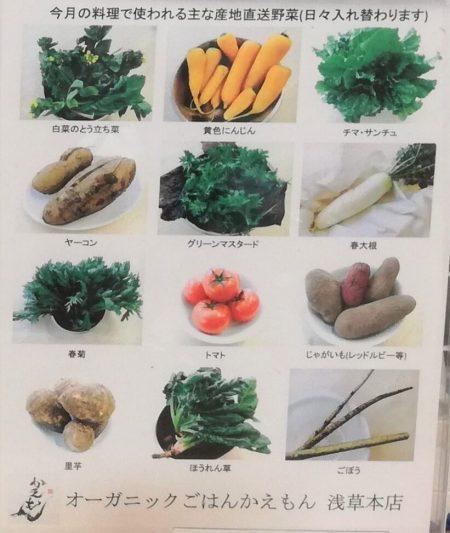 かえもん浅草野菜表