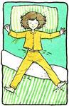 นอนกางแขนกางขา