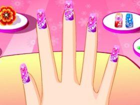 เกมส์แต่งเล็บลายใหม่ New Funky Manicure Game