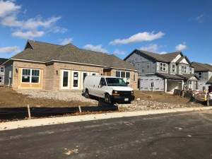 Lennar model homes under construction in Morningside