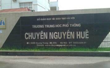 Trường THPT Chuyên Nguyễn Huệ Lần