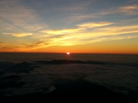 Sunrise at the top