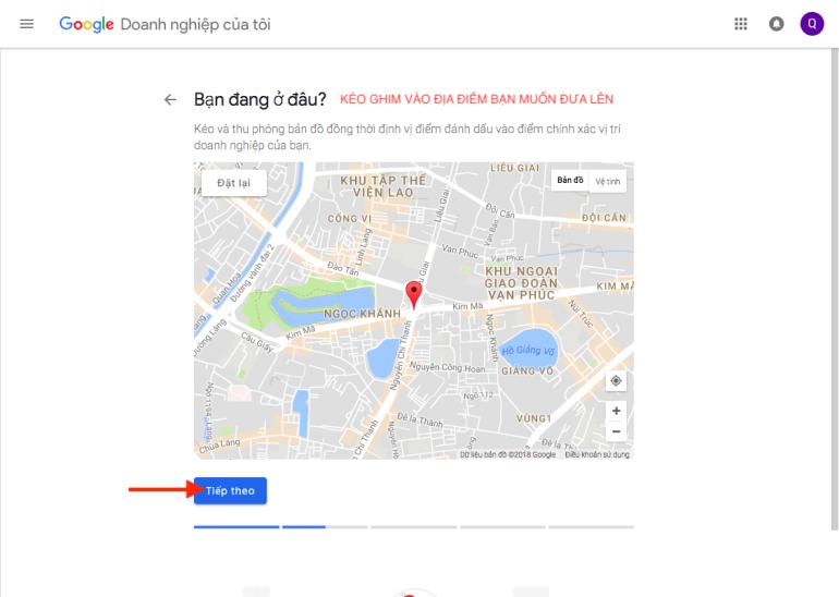 Thả ghim vào địa chỉ trên bản đồ