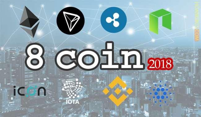 8 đồng coin tiềm năng đầu tư dài hạn 2018