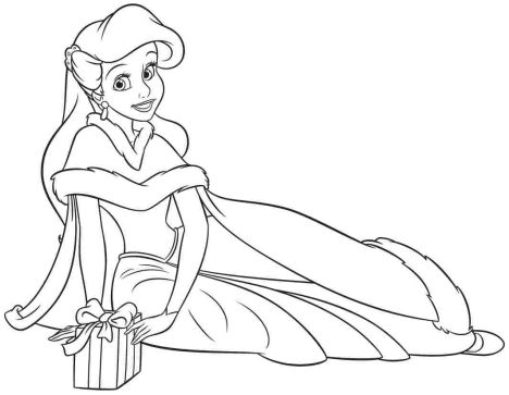 disney princess christmas coloring pages  part 1